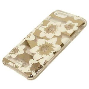 Kate Spade Gold Floral iPhone X and Xs phone case